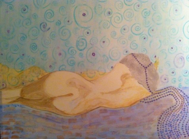 Woman Dream, A Watercolor